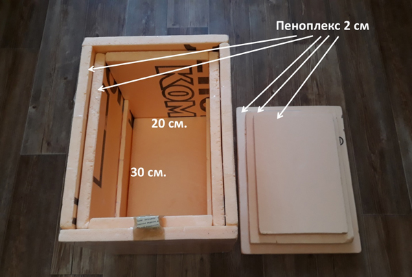 Размер инкубатора