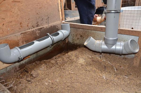 Поилка из полипропиленовых труб (канализационной трубы)
